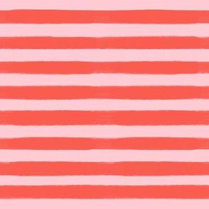 Valentine's Day Red and Pink Stripes