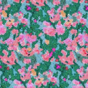 Vibrant Flower Garden Abstract Watercolor