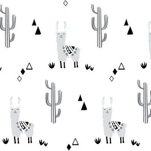 small llamas and cacti -neutral