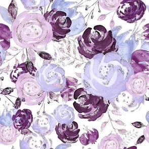 Purple floral explosion