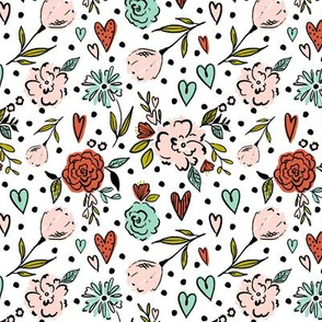 Heart-Floral-polka 5x5