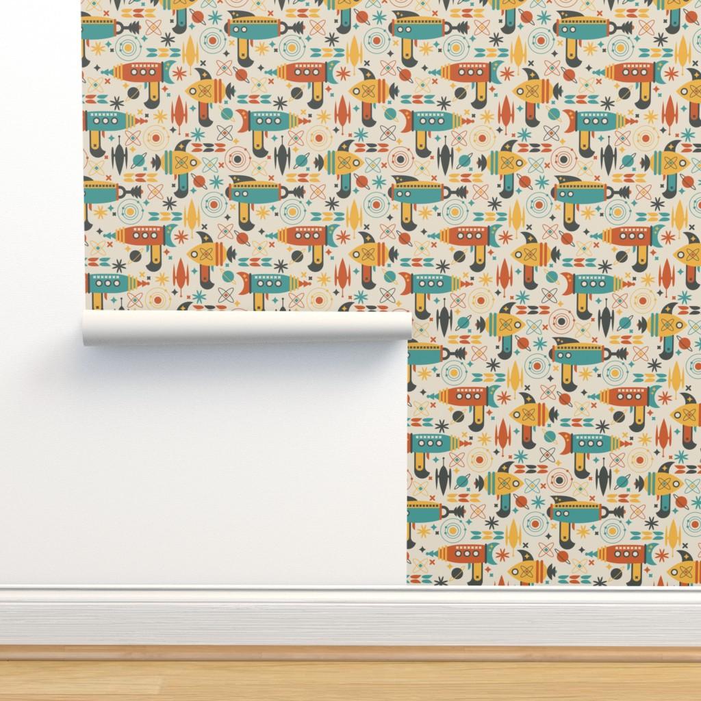 Isobar Durable Wallpaper featuring Atomic Retro Space Gun by tamara_lance