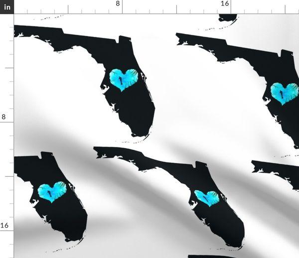 Landkarte Wasser Herz Florida Bundesland Taucher Karte