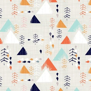 forest mountain - orange
