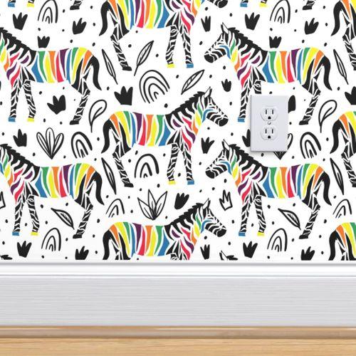 Wallpaper Rainbow Zebra