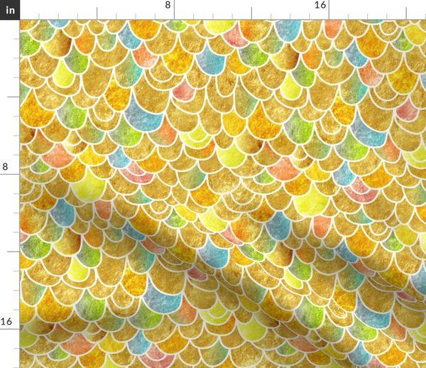 Fabric By The Yard Mermaid Skin