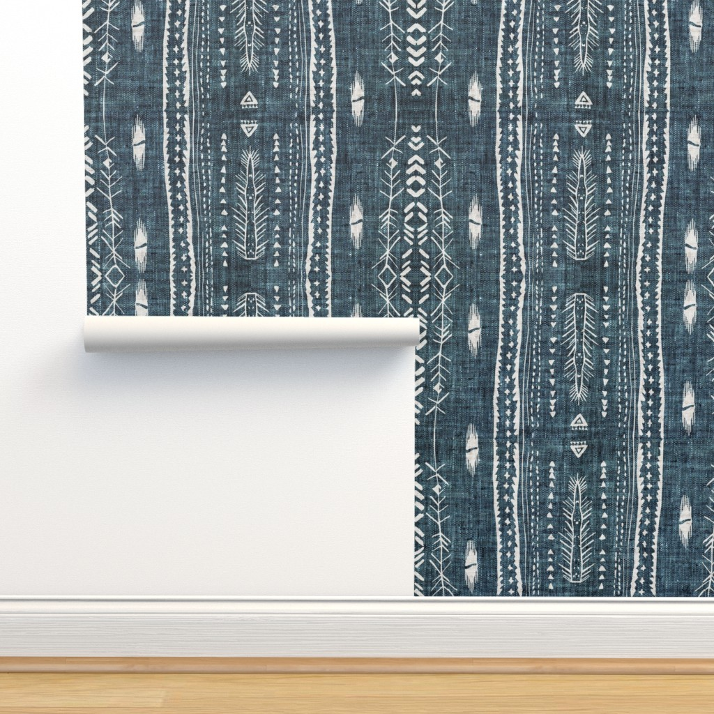 Isobar Durable Wallpaper featuring Atlantis Fleet (navy)  by nouveau_bohemian