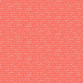Hand-Written Valentine's Words of Love