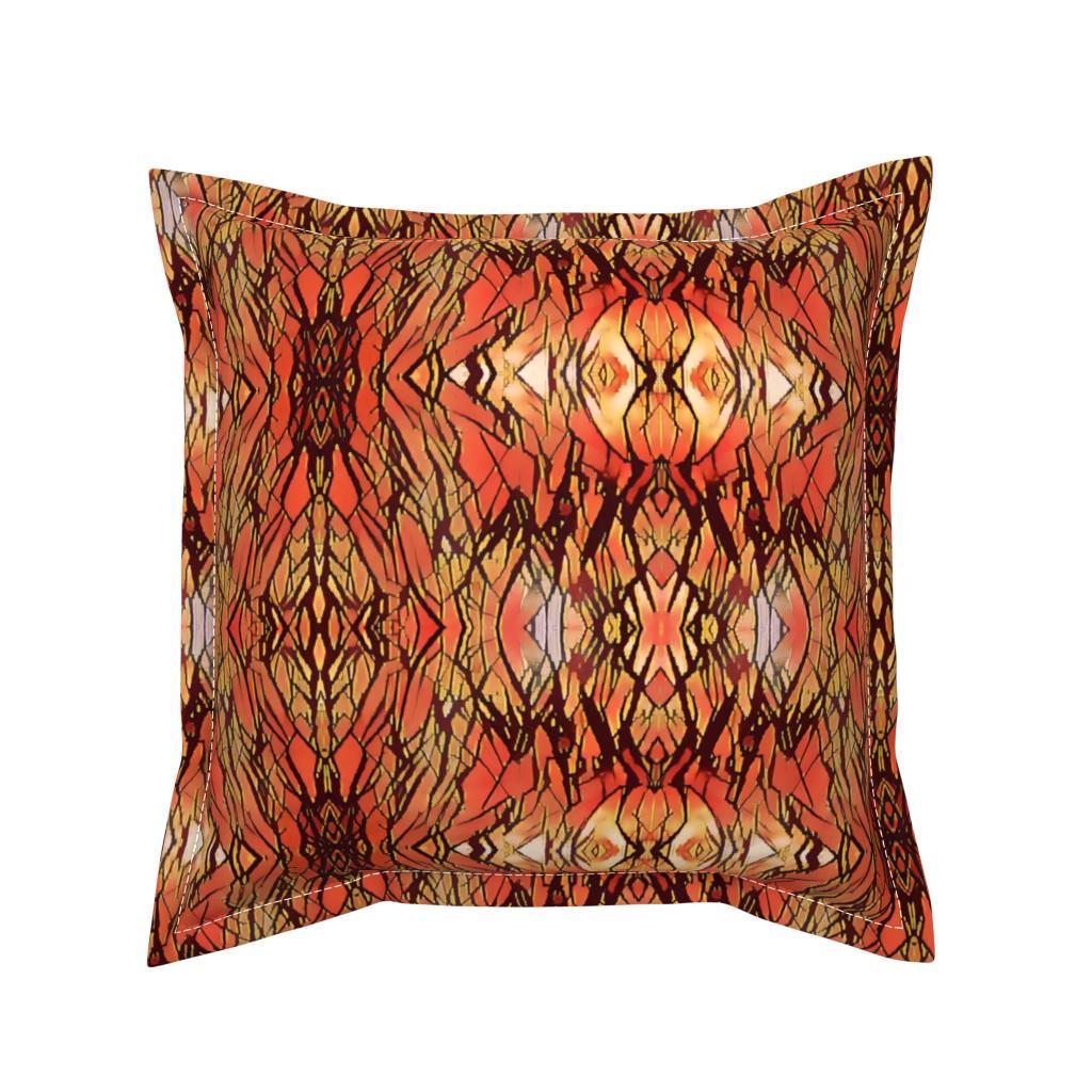 Serama Throw Pillow featuring Jungle Sunset Fever by bravenewart
