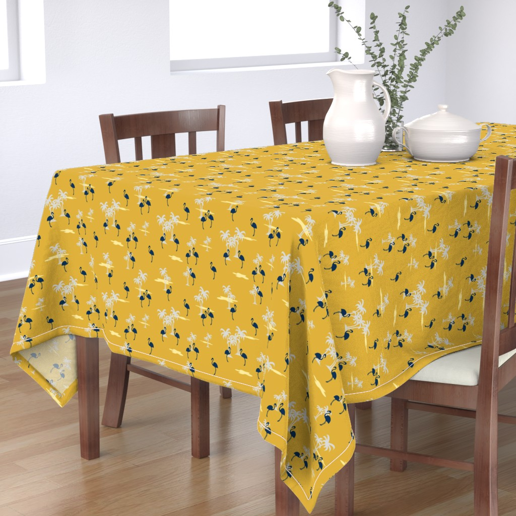 Bantam Rectangular Tablecloth featuring Coral Sands (gold) by thewallpaperfiles