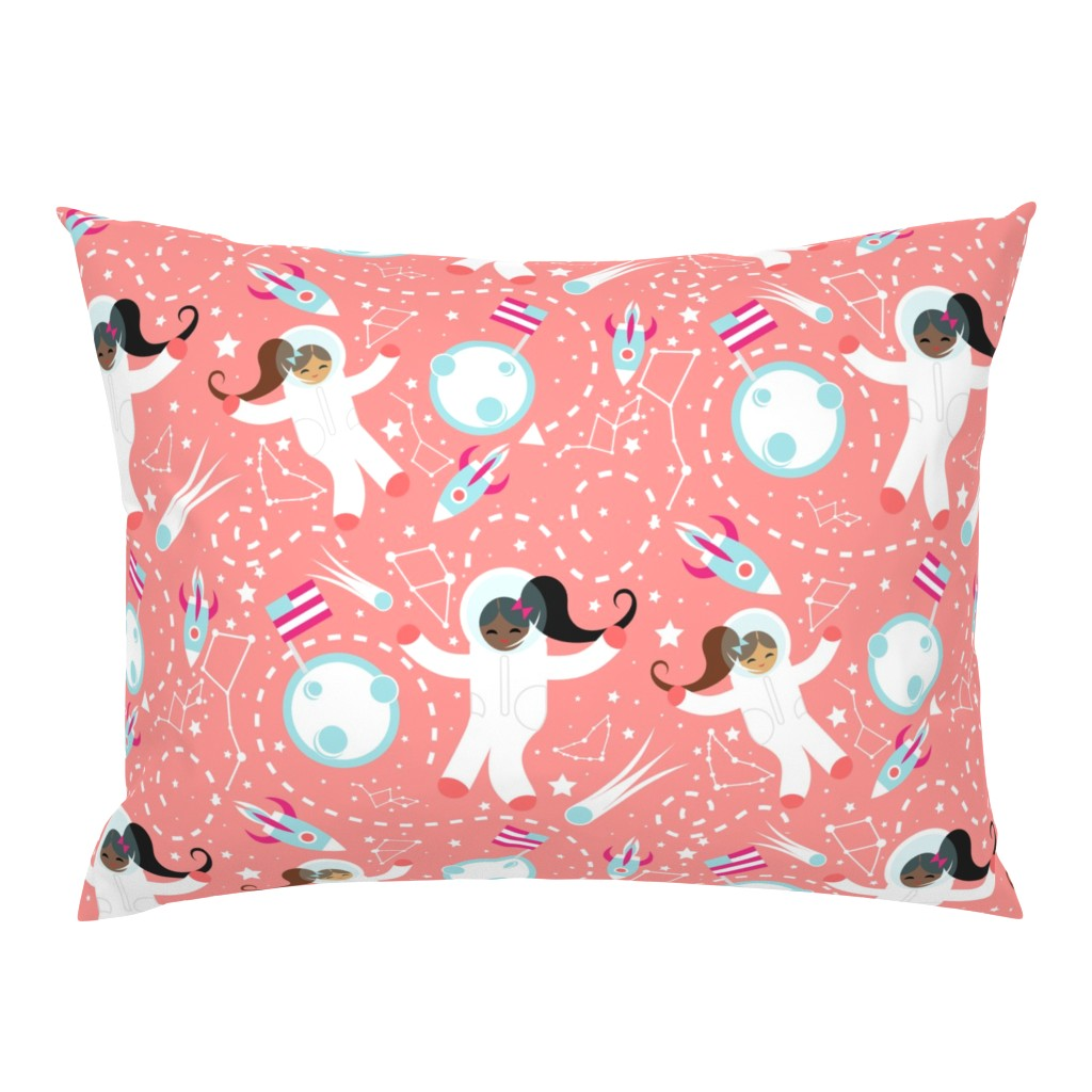 Campine Pillow Sham featuring princess awesome astronauts by sobonnydesigns