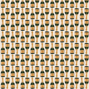 """gold champagne bottles 2"""" small size basic repeat"""