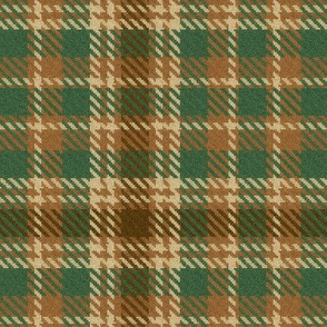 Pine Chocolate and Cream Plaid