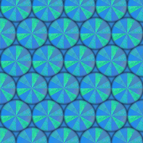 spin blue green