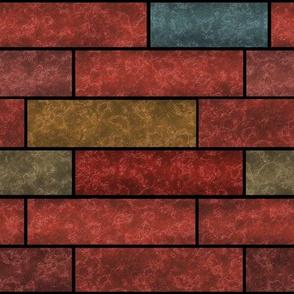 Terracotta loft bricks wall stone