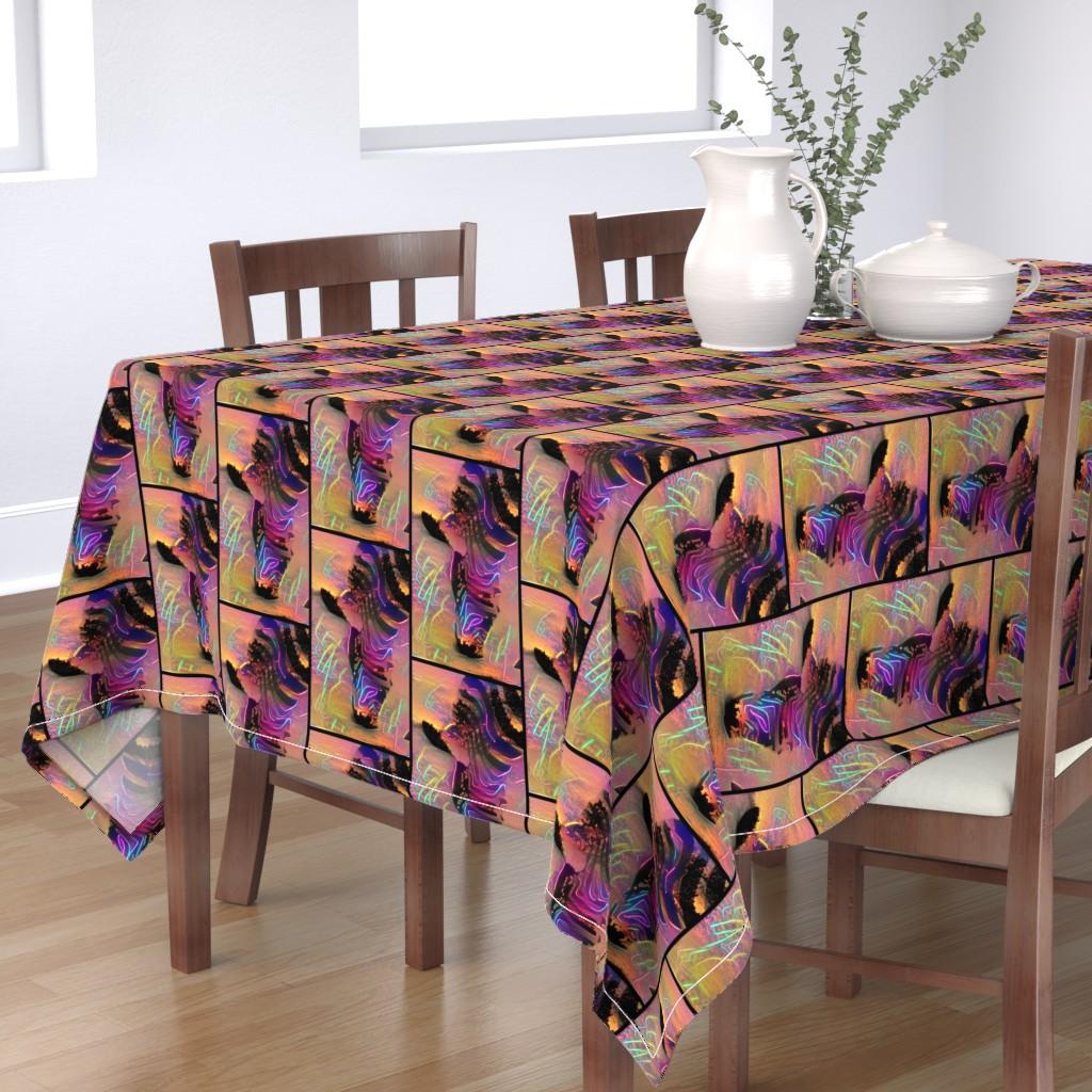 Bantam Rectangular Tablecloth featuring Wild Zebra Tiles by bravenewart