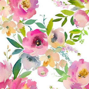 Watercolor Spring Pastel Floral