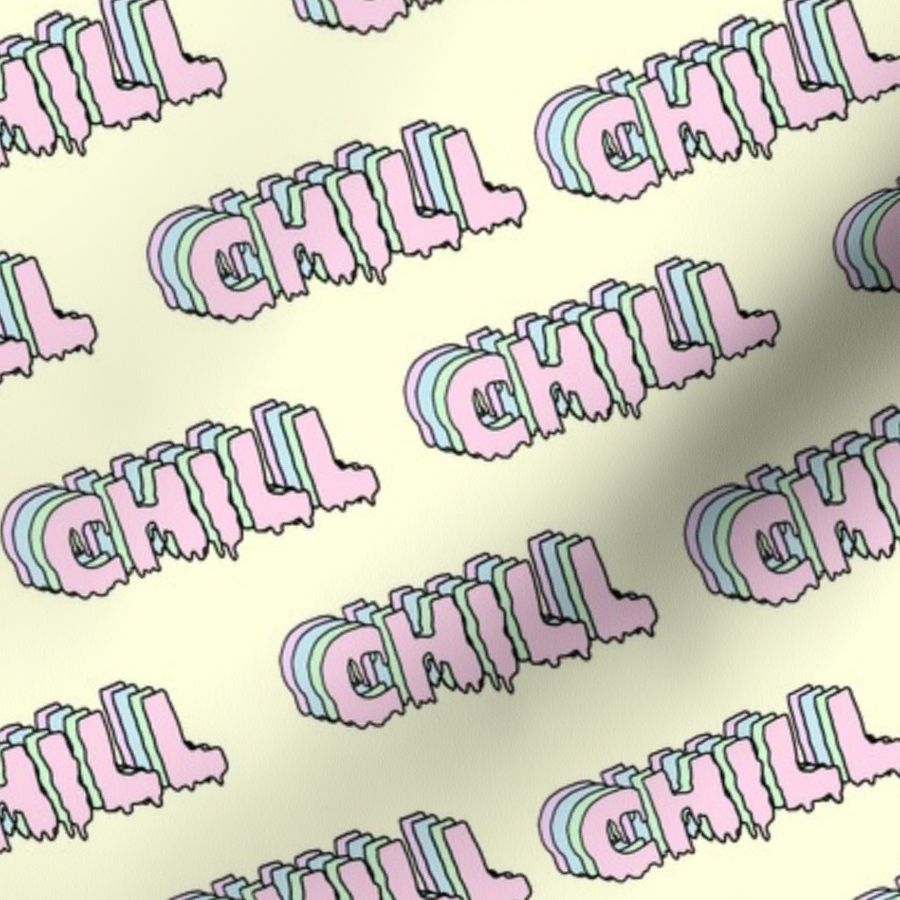 Fabric By The Yard Chill Aesthetic 90s Pastel Aesthetic Sticker Aesthetic Aesthetic Pastels Chill Yellow