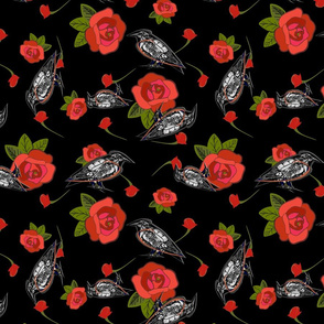Red Rose and Black crows