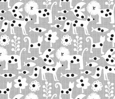 polka dot printed animals