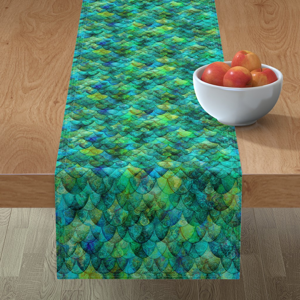 Minorca Table Runner featuring Seadragon Skin by Su_G_©SuSchaefer by su_g