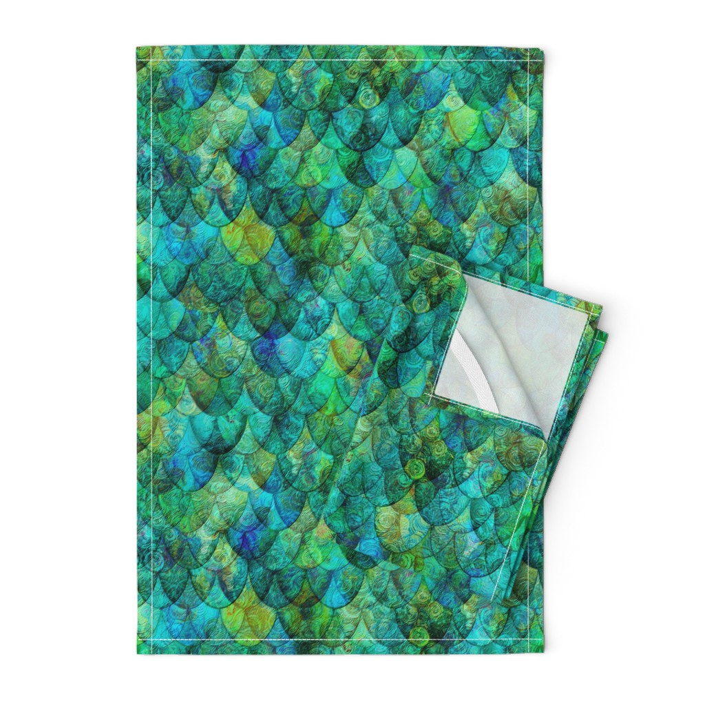 Orpington Tea Towels featuring Seadragon Skin by Su_G_©SuSchaefer by su_g