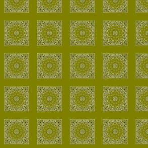 h060s100v050-Bandanna-Paisley Round-Olive Green
