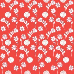 Floral Waves - Grapefruit