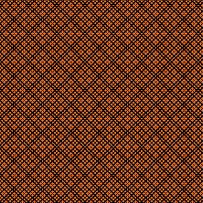 Fair Isle Geometric Pumpkin Orange On Black 1:6