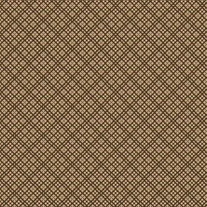 Fair Isle Geometric Tan On Café Noir 1:6