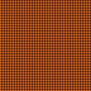 Plaid 6 Pumpkin Orange On Black 1:6