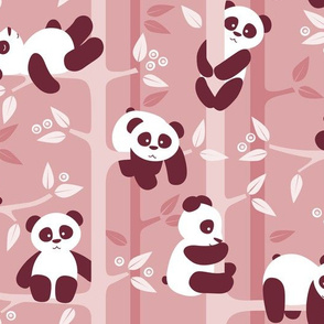 panda forest - pink