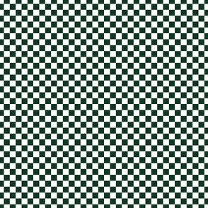Checkerboard Large Phthalo Green And White