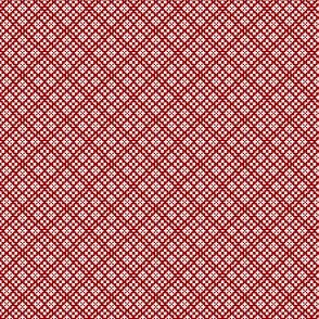 Fair Isle Geometric-Cherry Red and White