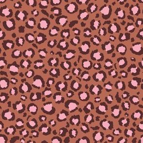 Terra Cotta and Blush Pink Leopard Spots Print - Animal Print