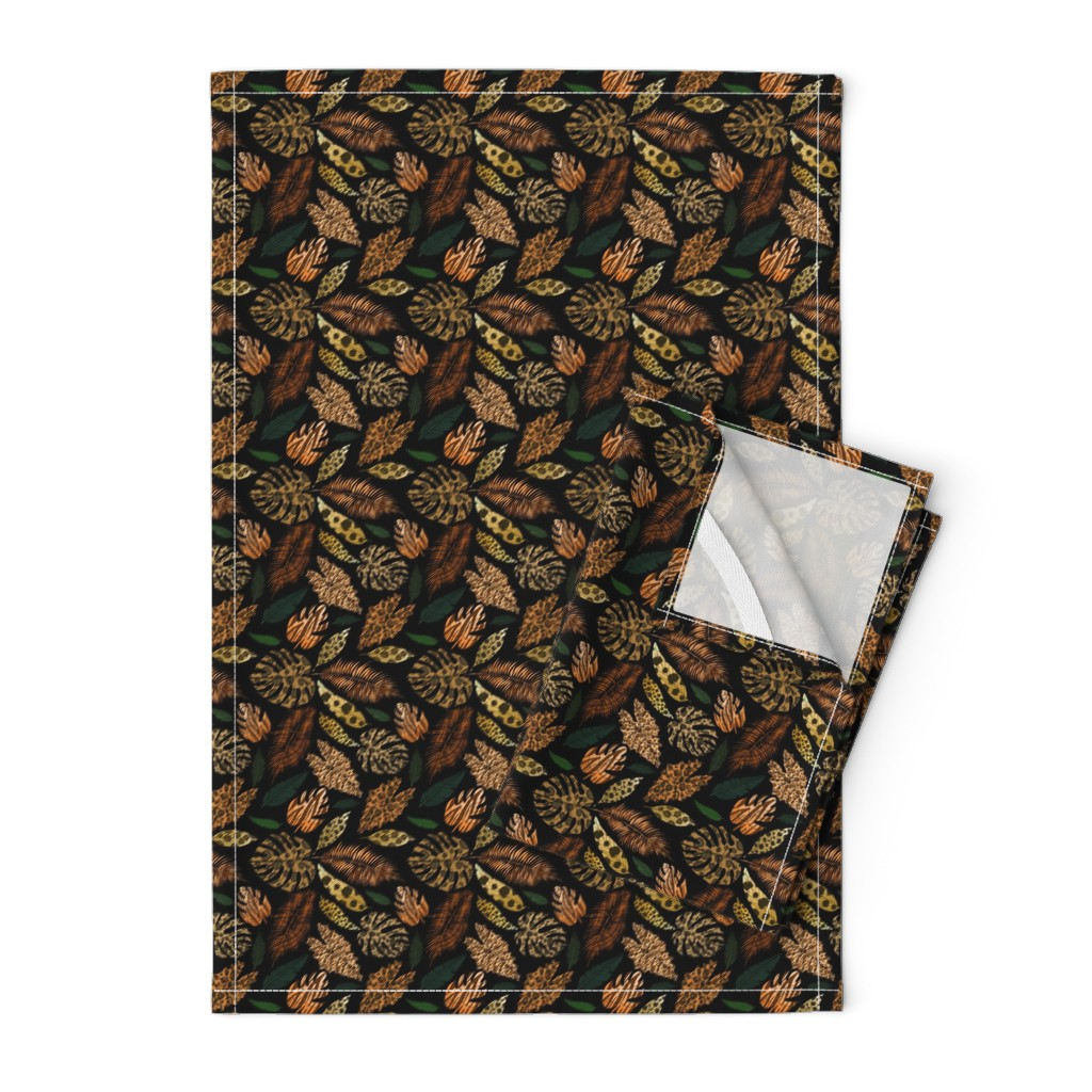 Orpington Tea Towels featuring Jungle Cats by irishvikingdesigns