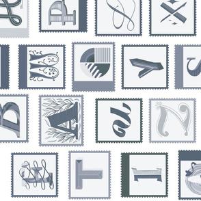 Advent Alphabet grey 90deg