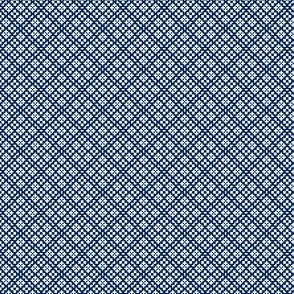 Fair Isle Geometric-Navy Blue and White