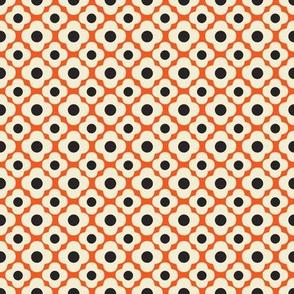 retro kitchen flower orange