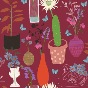 Romantic Botanic – Maroon