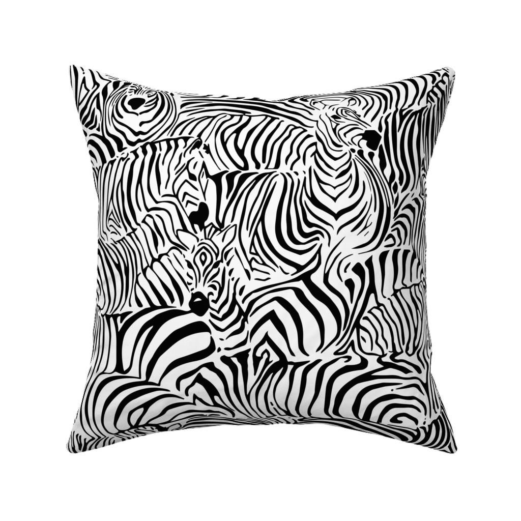 Catalan Throw Pillow featuring Zebra's Breach by ptimiya