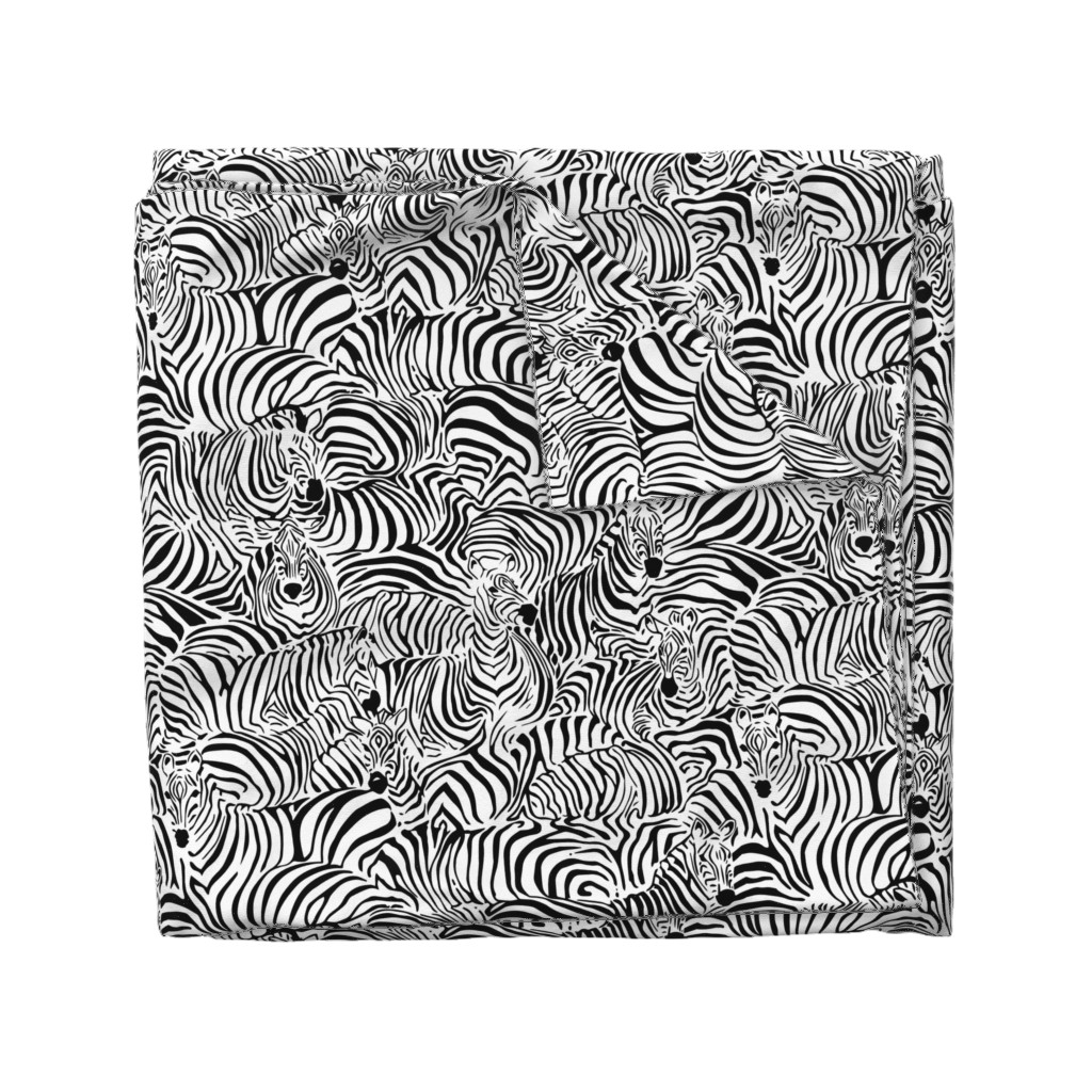 Wyandotte Duvet Cover featuring Zebra's Breach by ptimiya