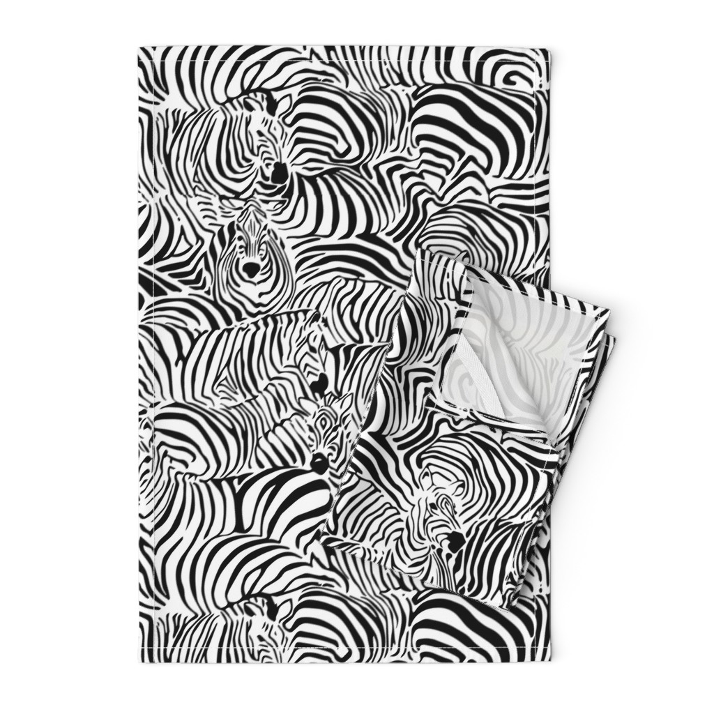 Orpington Tea Towels featuring Zebra's Breach by ptimiya