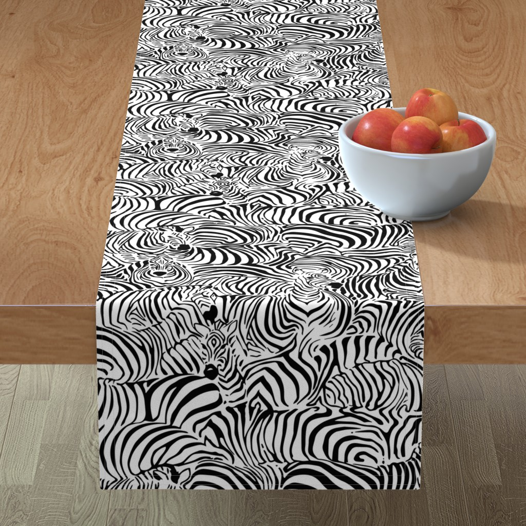 Minorca Table Runner featuring Zebra's Breach by ptimiya