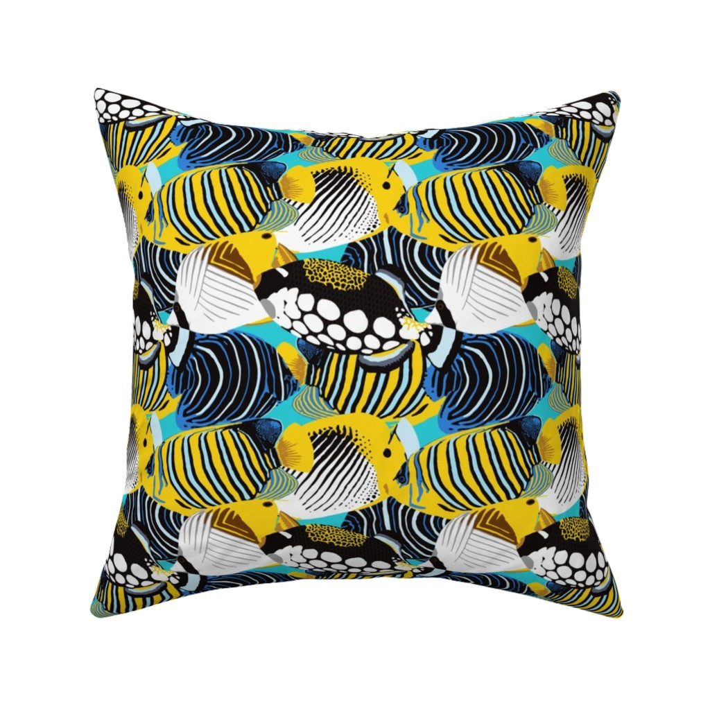 Catalan Throw Pillow featuring Tropical Fish  by nadyabasos