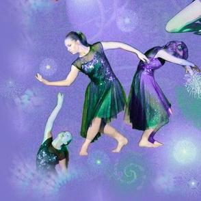 Panel Size Lavender Modern Dance