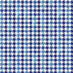 houndstooth blue and white