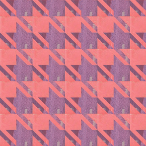 houndstooth coral purple