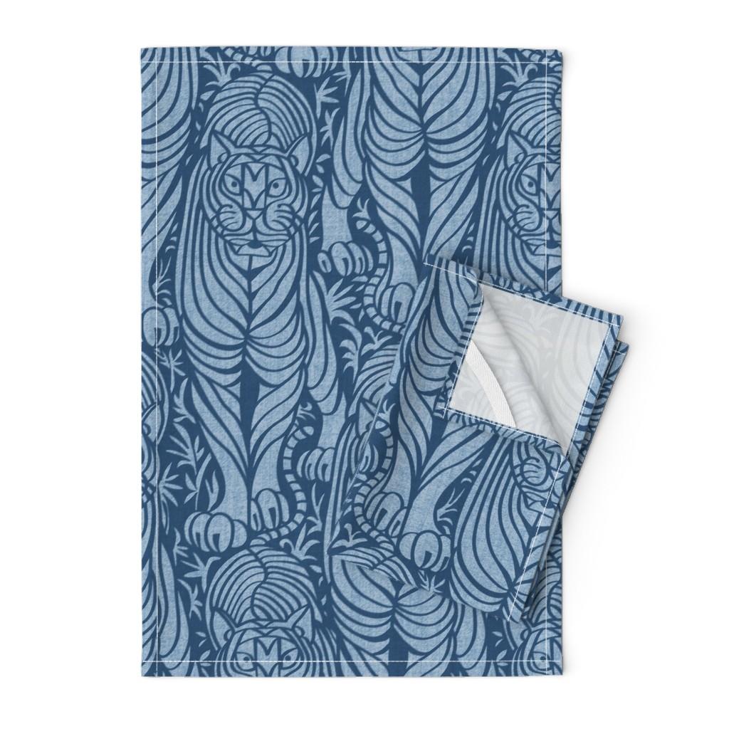 Orpington Tea Towels featuring Hidden Tiger by meliszawang