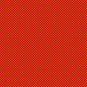 Polka Dots Golden Yellow On Crayon Red 1:6
